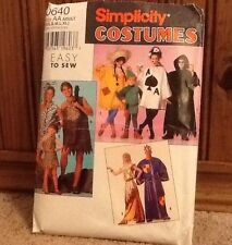 Caveman, Card, Scarecrow, Ghoul, King+++ Adult Costume Pattern, Simplicity 0640