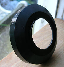 wide angle metal lens hood   49mm screw in  ,japan used