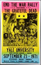 """Grateful Dead Concert Poster - 1971 End The War Rally - Yale University 14""""x22"""""""