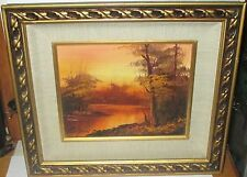 """G.WHITMAN """"TWILIGHT"""" ORIGINAL OIL ON CANVAS LANDSCAPE PAINTING WITH C.O.A."""