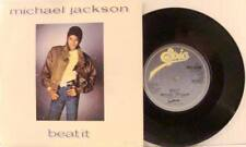 Michael Jackson Beat It / Burn This Disco Out UK Import 45 With Picture Sleeve