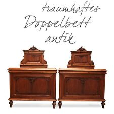 antikes Doppelbett 170cm HOCH Historismus beschnitzt Bett Pfeifenbarock EDELTEIL
