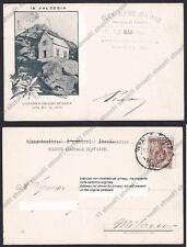 VERCELLI VARALLO 175 VALSESIA - RIFUGIO ORAZIO SPANNA Cartolina viaggiata 1903