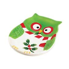"""Holiday Hoot Large Platter Size: 1.25""""H x 8""""W x 6.25""""D"""