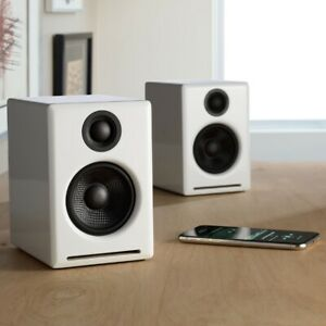 🔈🎶 * Audioengine A2+ Wireless Speaker System with Bluetooth WHITE *New* 🎵🔈
