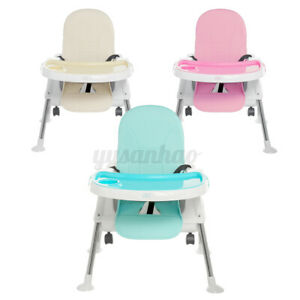 Portable Baby High Chair 3 in1 Dining Durable Child Eating Feeding Toddler Seat