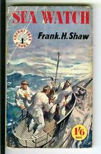 SEA WATCH by Frank H. Shaw, rare British Cherry Tree U-boats war pulp vintage pb
