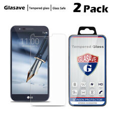 [2-Pack] HD Tempered Glass Screen Protector Film For LG Stylo 3 Plus MP450 TP450