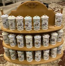 Lenox carousel Spice Rack And 23 Jars - 24th Jar Is A Duplicate But Available