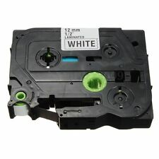 Black on White Label Tape 12mm For Brother TZ-231 TZe 231 P-Touch Labeling Maker