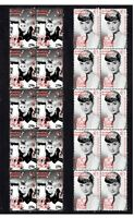 AUDREY HEPBURN SET OF 2 CINEMA CENTENARY MINT STAMPS