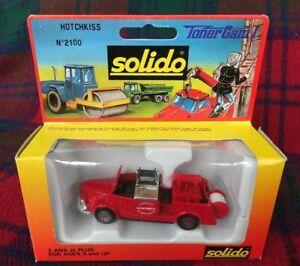 "SOLIDO ""Toner Gam"" #2100 Hotchkiss H6 G54 fire truck (MIB) Made in France"