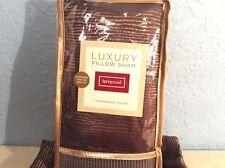"One Pair SPRINGMAID Luxury Pillow Sham Tuscan Velvet Oversized 32"" x 26"" NIP"