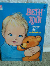 1970 BETH ANN PAPER DOLL AND CLOTHES COMPLETE AND UNUSED!