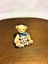 Cherished Teddies Tiny Treasured Bear with Toy 2002 Nib