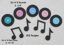 Die Cut RECORDS Jukebox Dance Music Sock Hop Handmade Scrapbook Paper Piecing