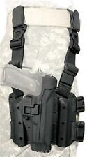 BlackHawk CQC Serpa Tactical Holster Beretta M9 92 96 Black 430504BK-R