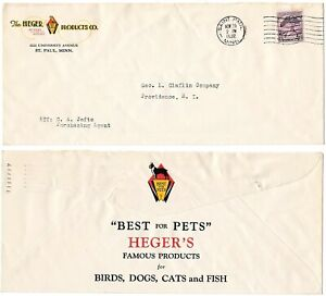 Heger Pet Food – Both Sides Multi Colored Advertising Cover 1932 St. Paul, MN