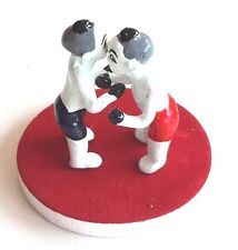 MINIATURE CLAY DOLL BOY BOXING MUAY THAI HANDMADE CRAFT 2  inch. RED BOXER CUTE
