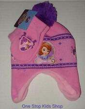 SOFIA THE FIRST Girls Winter Set HAT & MITTENS Cap Gloves DISNEY Princess