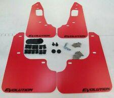 SALE SR 08-15 Mitsubishi EVO X Mud Flaps Set RED with Black Logo & Hardware