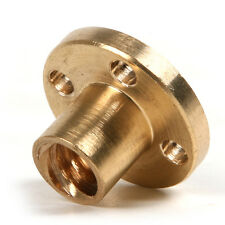 2pcs NEW Dia 22mm Brass M8 8mm Flange Nut for CNC 3D Printer Rod Lead Screw
