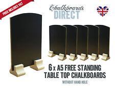 A5 chalk board/handheld table top pub menu black board pack of 6 / (A5-NH)