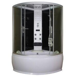 Cabina vasca multifunzione box doccia idromassaggio led 120x120 o 130x130|da