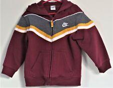 NIKE Size 4 Boys Maroon Full Zip Hoodie Jacket