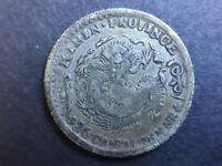 1898 China Kirin 3.6 Candareens 5 Cents Dragon Silver Coin 吉林省造 光緒元寶