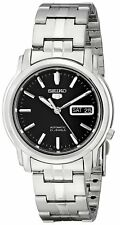 Seiko 5 Snkk71 Automatic Day-Date Black Dial Stainless Steel Mens Watch Snkk71K1