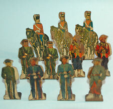 MARX Target Game 11 TIN SOLDIERS Sikh Russian Uhlan Scots Grey Bersaglieri KRR