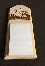 Pig Hotter Pad or Note Pad - Pyrograved (14 x 4 Inches)