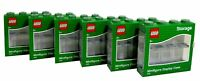 LEGO Pack of 6 Small 8 Minifigure Storage and Display Cases GREEN NEW & SEALED