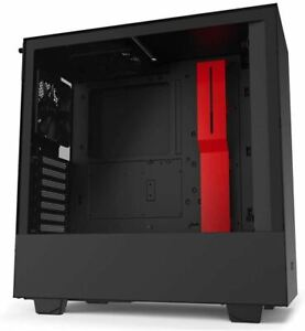 NZXT H510 - CA-H510B-BR - Compact ATX Mid-Tower PC Gaming Case - Front I/O USB T