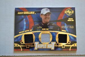 2004 Wheels American Thunder Rusty Wallace Triple Hat Memorabilia Card #97/160