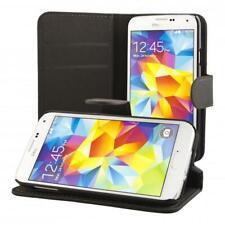 Samsung Galaxy S5 mini Cartera Funda Cover Flip Wallet Case bolsa Negro + de Vid