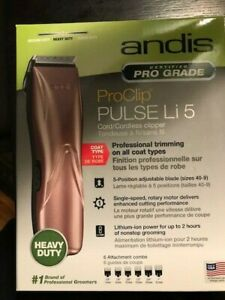 ANDIS ProClip PULSE Li 5 Pro Cordless Clippers Dog AGC Brand New