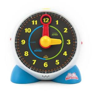 Kids Clock Learn Educational Toy Interactive Musical Night Light Toddler NEW