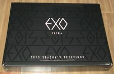EXO 2015 SEASON'S SEASON GREETINGS CHINA VERSION CALENDAR + SCHEDULER + DVD NEW
