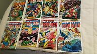 Invincible Iron Man 110 111 112 113 114 115 117 124 Bronze Age Marvel lot Nice