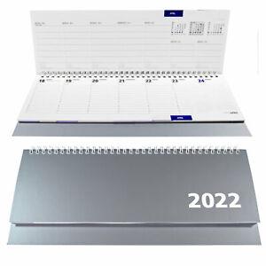 Tischkalender 2022 Silber Querkalender Terminkalender Schreibtischkalender