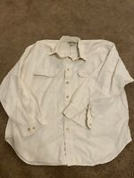 Mens Eddie Bauer 100% Cotton Field Shirt Size X Large