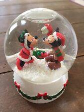 Hallmark Mickey And Minnie Disney Mistletoe Time Christmas Snowglobe 2006 Small