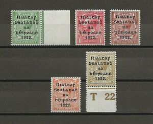 IRELAND 1922 SG 47/51 MNH Cat £60