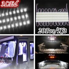 20PC 60 LED Strip Pod Panel 4X4 Off Road Jeep Under Body Rock Lights WHITE US