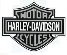 SALE RARE SILVER  HARLEY-DAVIDSON STICKER 21 x 16.5cm
