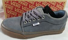 New Vans Chukka Low Pro Suede Canvas Grey Gum Ultra Cush Skate Shoe Men Size 6.5