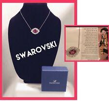 svarowski By Shourouk Pink Crystal Pendant Necklace