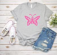 Pink Butterfly Cancer Sucks T-Shirt Bella & Canvas Unisex